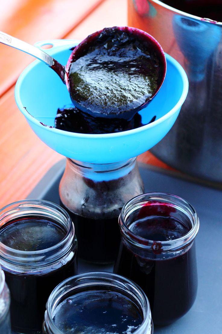 Fekete ribizli lekvár, Fekete ribizli zselé üvegekbe töltés