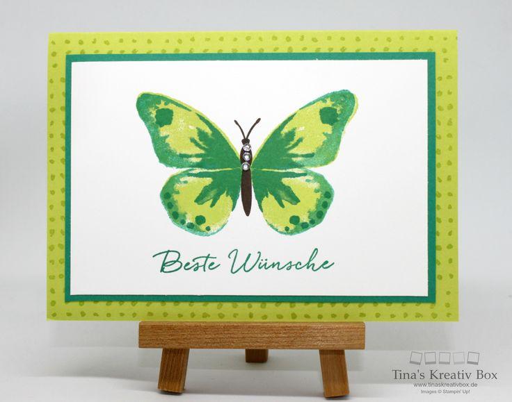 Grußkarte Watercolor Wings mit Produkten von Stampin' Up!