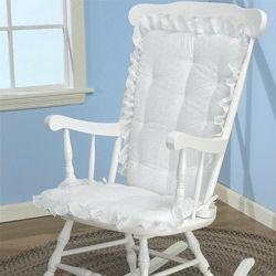 White Eyelet Rocking Chair Cushion Rocking Chair Cushions - aBaby.com