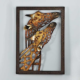 u0027Giraffeu0027 Metal Wall Art & 11 best Metal wall sculptures images on Pinterest | Metal walls ...