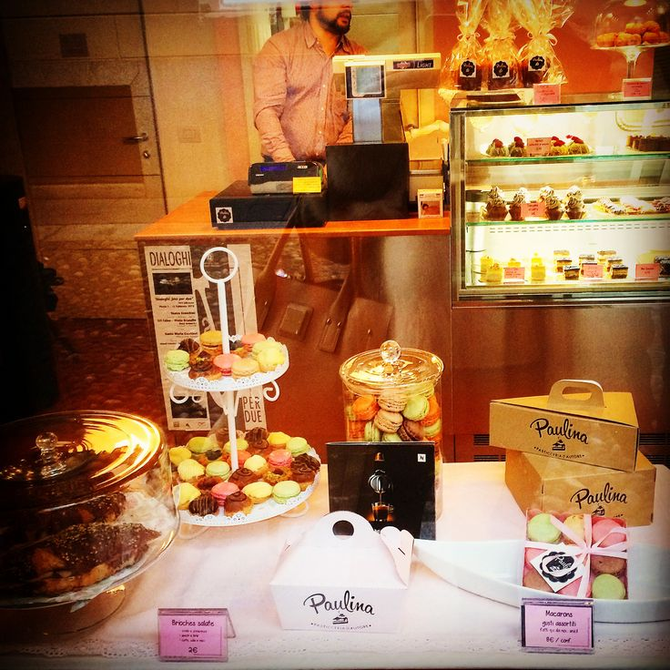 Paulina Pastry shop, Pavia,Italy. Amazing desserts, such as cupcakes and even dessert