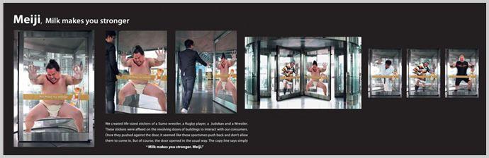 回転ドア|凄すぎて脱帽する!世界の斬新なアイデア広告12選