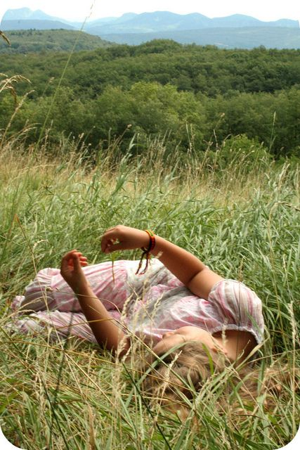 To show your kids the simple enjoyment of lying in the grass, day dreaming and watching the clouds float by...
