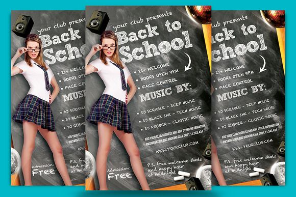 Back To School Flyer Template by DESIGNROOM1229 on @creativemarket