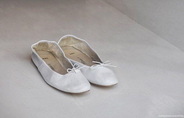 notquitesnowwhite.com - white ballerinas