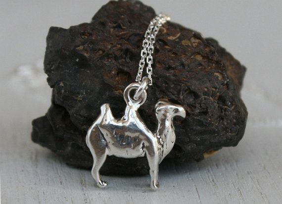 Sterling Silver Camel Necklace / Humped Camel by greenduckweed