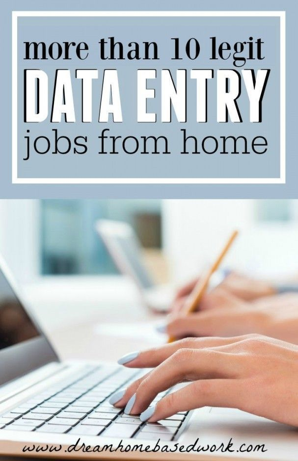Legitimate At Home Data Entry or Typing Jobs (scheduled via