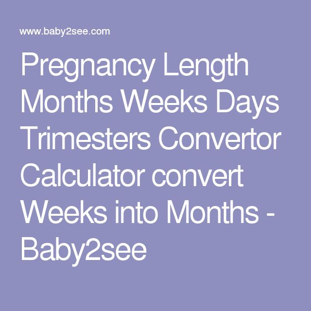 Pregnancy Length Months Weeks Days Trimesters Convertor Calculator convert Weeks into Months - Baby2see