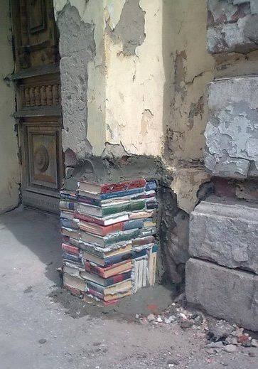 Never mind art & design with books - how about construction with books!