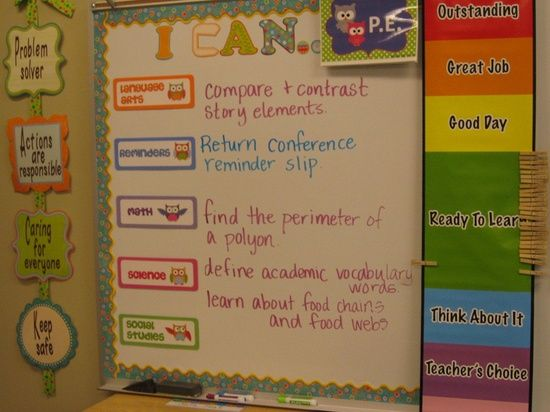I Can Common Core Bulletin Board... I REALLY like this idea for displaying objectives