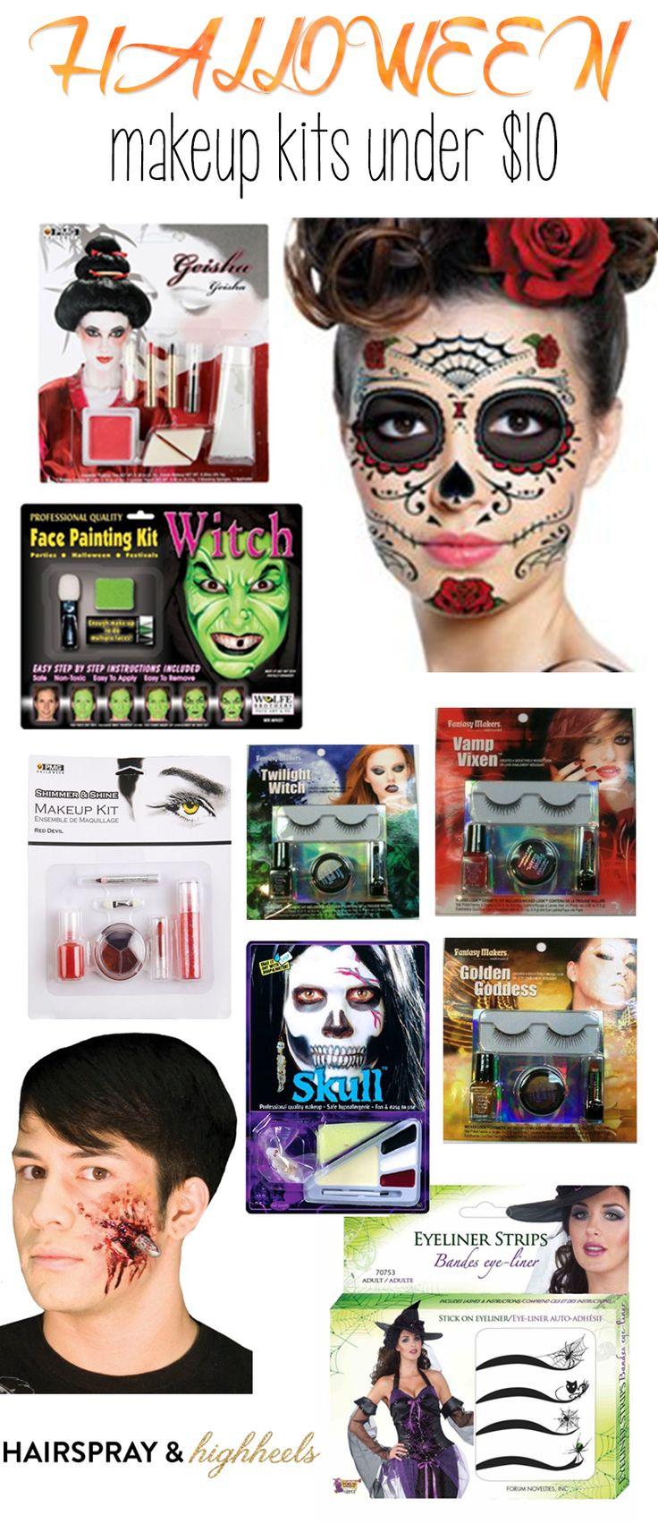Halloween Makeup Kits Under $10 by Hairspray and Highheels #spooky #costumes #halloweencostumes
