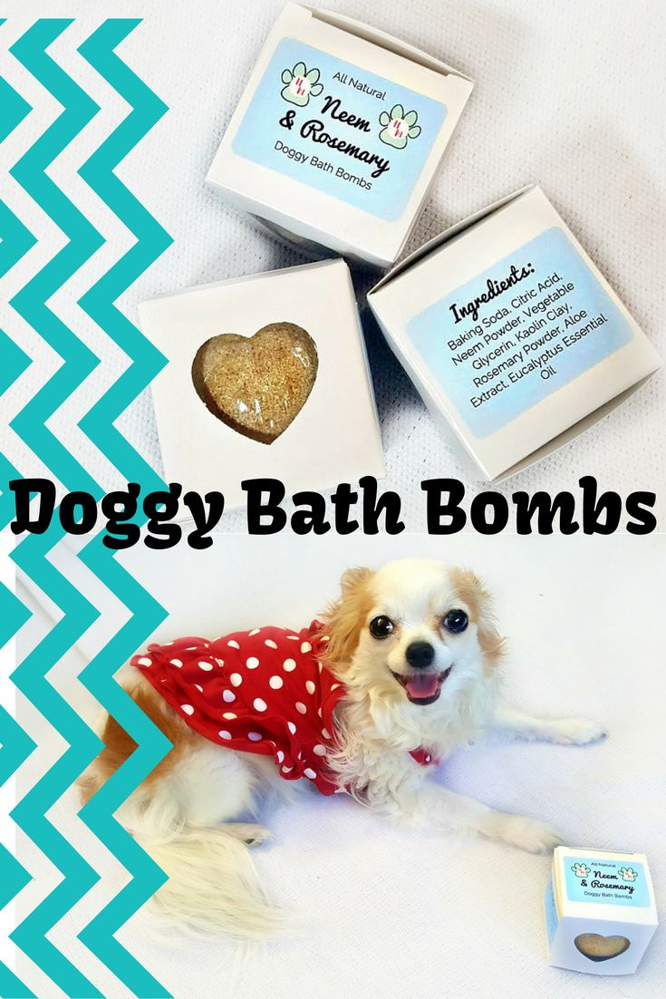 Neem Rosemary Bath Bombs For Your Dog Two Herbs That Are Great