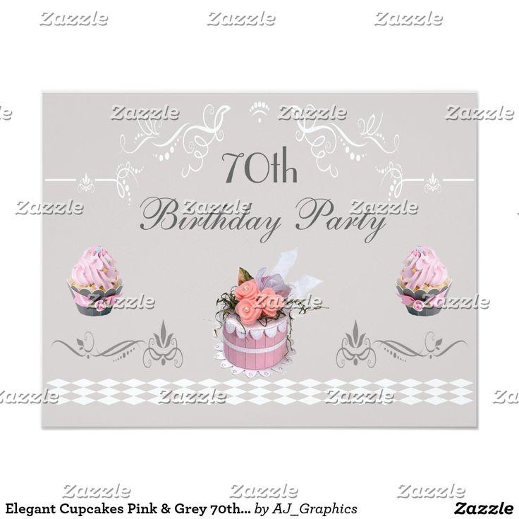 Magdalenas elegantes rosa y cumpleaños del gris