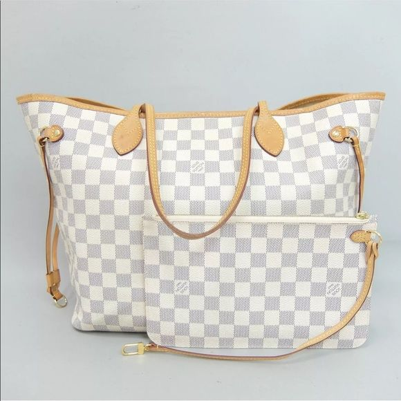 b3a92479f5b5 Authentic Louis Vuitton Neverfull Azur MM Louis Vuitton celebrates the Neverfull  MM with a new version