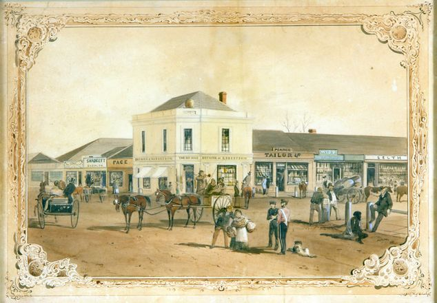 Beehive Corner, Adelaide 1849