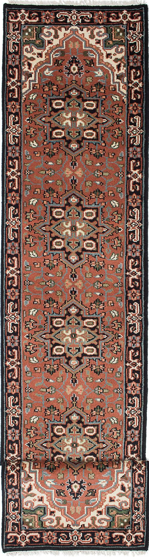 Hand-knotted Royal Heriz Copper Wool Rug