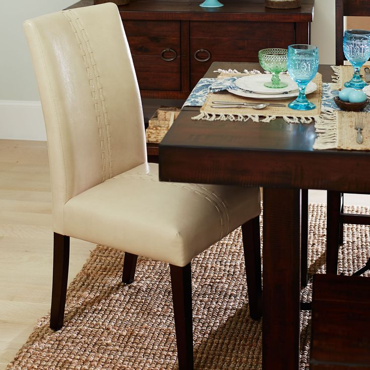 Ivory deluxe dining chair chairs dining chairs and pier for Pier 1 dining room sets