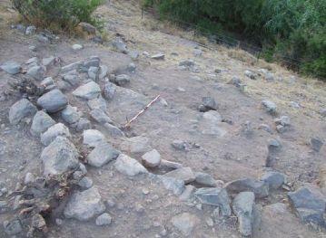 Opgravingen hebben gebouwen aan het licht gebracht in een Natufian dorp Foto dr. Leore Grossman