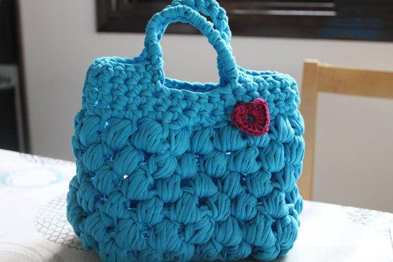 Puff crochet bag