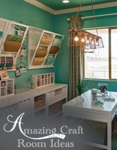 Oh, to dream!.......cool craft rooms.