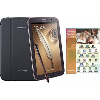 "Samsung 8"" 16GB Brown Galaxy Note Tab, w/ Case & App Software"
