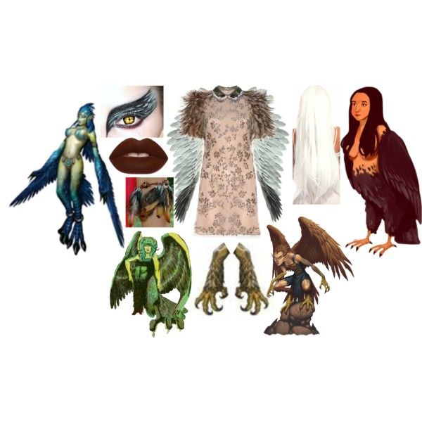 Harpy by slytheriner on Polyvore featuring Valentino and Lime Crime