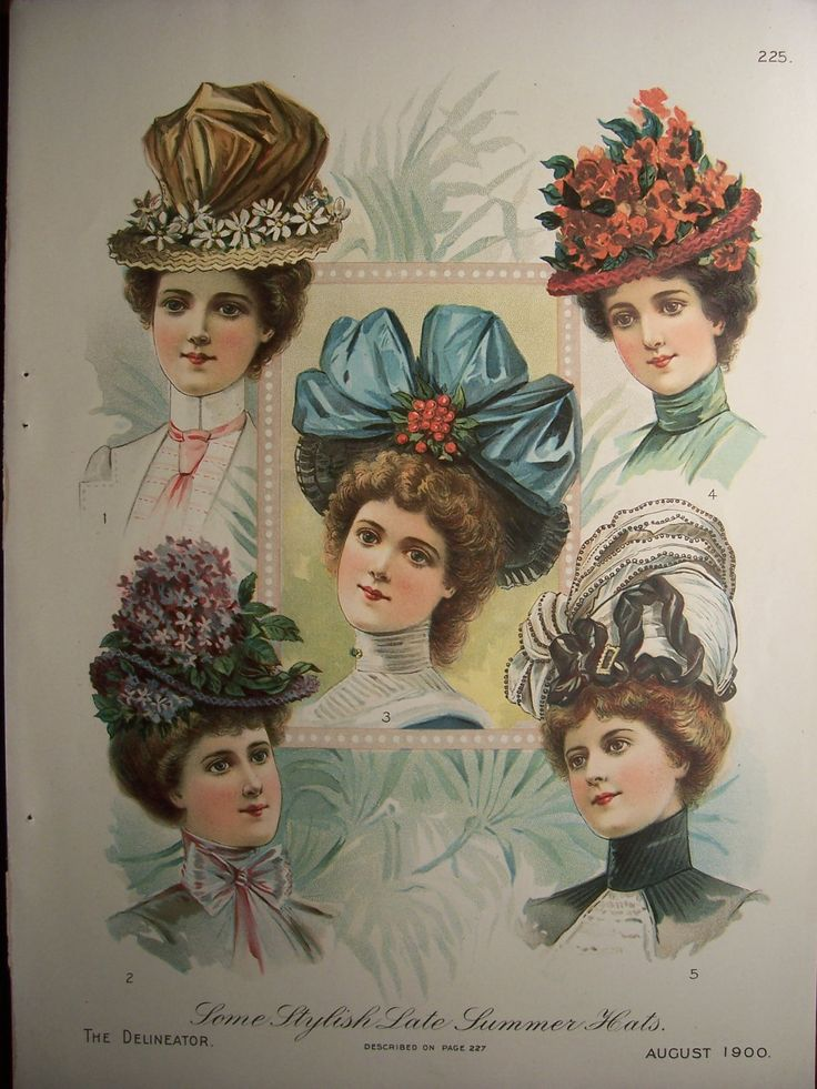VICTORIAN HATS /1900s Butterick Pattern Advertisement Victorian Hats Dresses Edwardian Costumes Vintage Fashions. via Etsy.