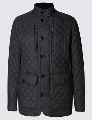 Quilted Textured Jacket with StormwearTM