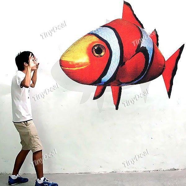 1# Летающая рыба Air Swimmers с д/у: http://www.tinydeal.com/funny-infrared-rc-air-flying-fish-toy-with-led-light-p-45095.html  Еще одна забавная игрушка для детей. Фольгированный воздушный шар с дистанционным управлением — давно уже всем известная летающая рыба.