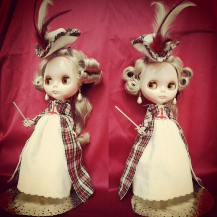 'Scottish Rebel' Royal Stuart Dress set, for the BlytheCon Japan raffle.
