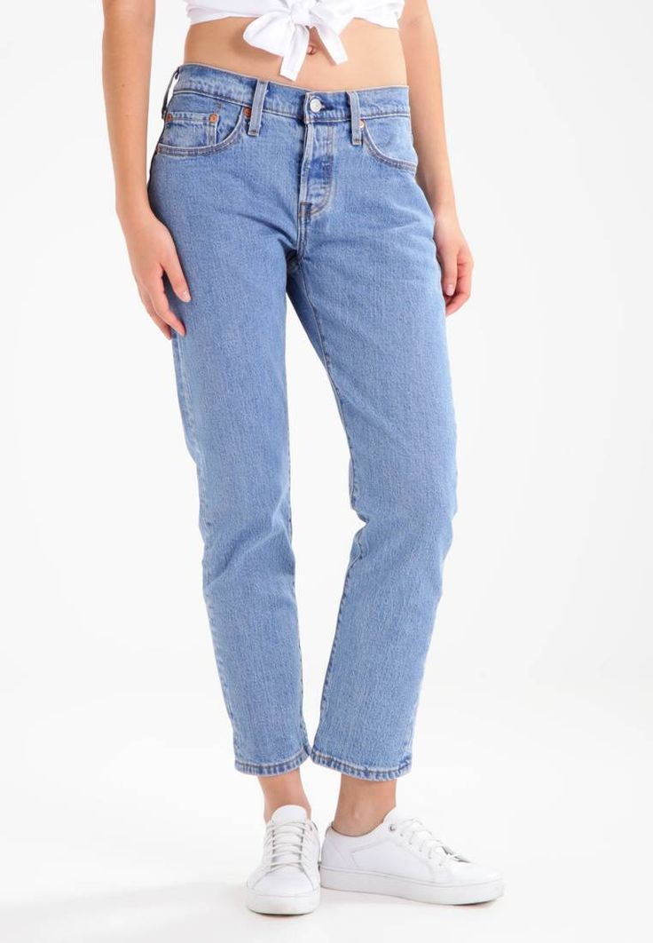 """Levi's®. 501 TAPER - Jeans Tapered Fit - amerika blue. Fit:loose. Outer fabric material:99% cotton, 1% spandex. Our model's height:Our model is 69.5 """" tall and is wearing size 27x28. Care instructions:machine wash at 30°C. inner leg length:28.5 """" (Size..."""