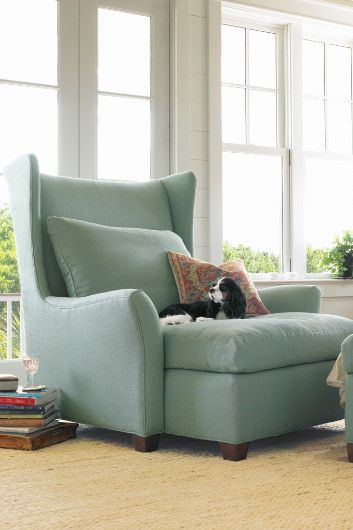 I wouldn't mind relaxing in this comfy chair, nope, not a bit ...    Milan Lounging Chair - Oversized Chair, Lounge Chair | Soft Surroundings