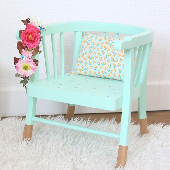 avant après chaise baumann déco décoration chambre enfant maayle chic blog babayaga magazine