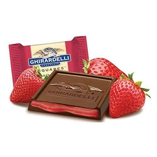 Ghirardelli Chocolate Squares Valentine's Dark Chocolate Strawberry, 9.5oz