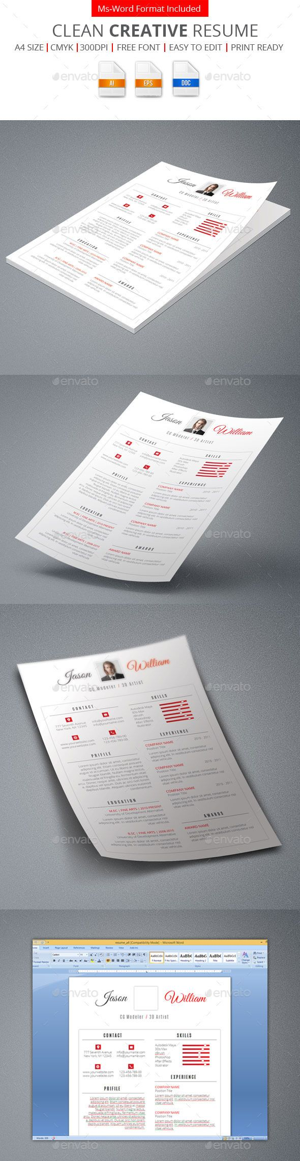 free creative resume templates%0A Clean Creative Resume
