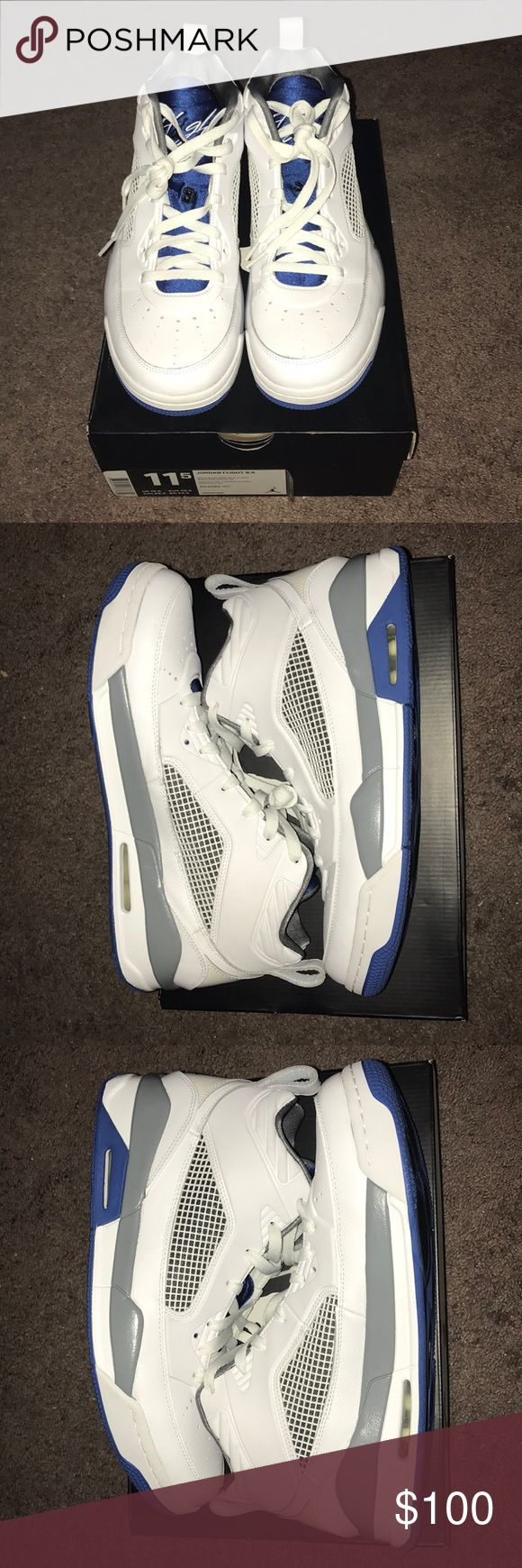 Jordan Flight 9.5 Very clean shoe with the exception of an very small  and unnoticeable smudge on toe rubber. Never been worn outside, only once indoors. Like new! No creasing! Comes with original box Air Jordan Shoes Sneakers