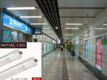 The INITIAL-LED 8 feet Tube 36W are our most popular choice for replacing the standard fluorescent tubes in applications that have high ceilings. Unlike the traditional fluorescent tube .  It's the fantastic lighting solution for garages, repair shops & junkyards.  The light can simply replace outdated, old-fashioned fluorescent tubes. If your ceiling is very high or you're looking to change from tubes to something else, you might want to check out our High Bay Series. http://j.mp/1GWV9rp