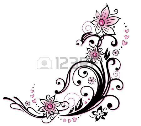Kleurrijke bloem decoratie, tribal en tattoo stijl photo