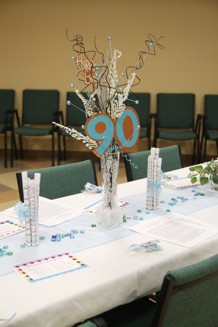 Centerpieces for mom 39 s 90th birthday mamaw 39 s 90th Table decoration ideas for parties