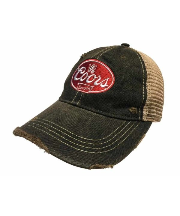 2a5ffc826 Coors Banquet Brewing Company Retro Brand Vintage Mesh Beer Charcoal ...