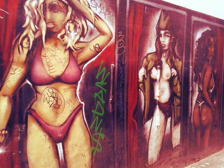 Amsterdam red light district graffitti