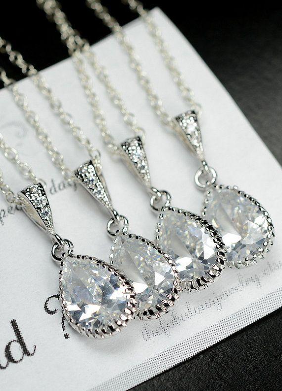 Bridesmaid Jewelry Bridesmaid Necklace by thefabjewelrywedding