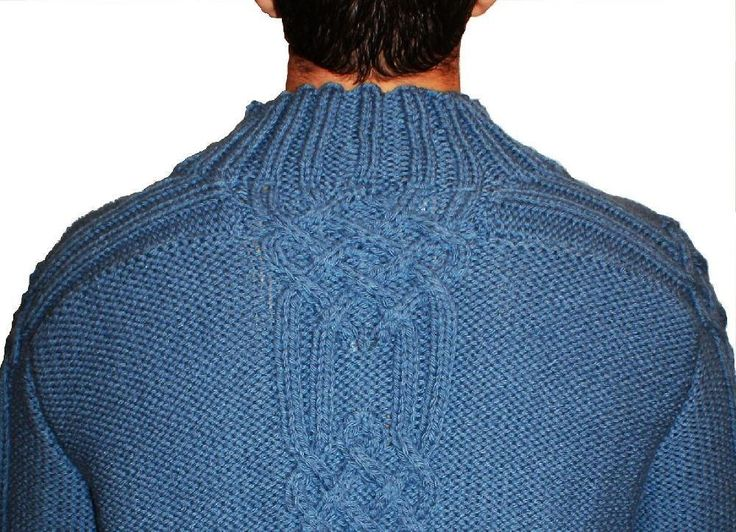 This is the knitting PATTERN for a mans sweater with saddle shoulders and cable pattern panel. I have designed this with my men in mind. As we all know they can be fussy creatures but this is one jumper they will love. My son didn't want to take it off after modelling it for me.This sample has been worked in an 50% Wool 50% Acrilic mix but it would be great worked in pure wool. SIZES To fit chest: 36-38 40-42 44-46 48-50 52-54 in / 90-95 100-105 110-115 120-125 130-135 cm. YARN 7[7:8...