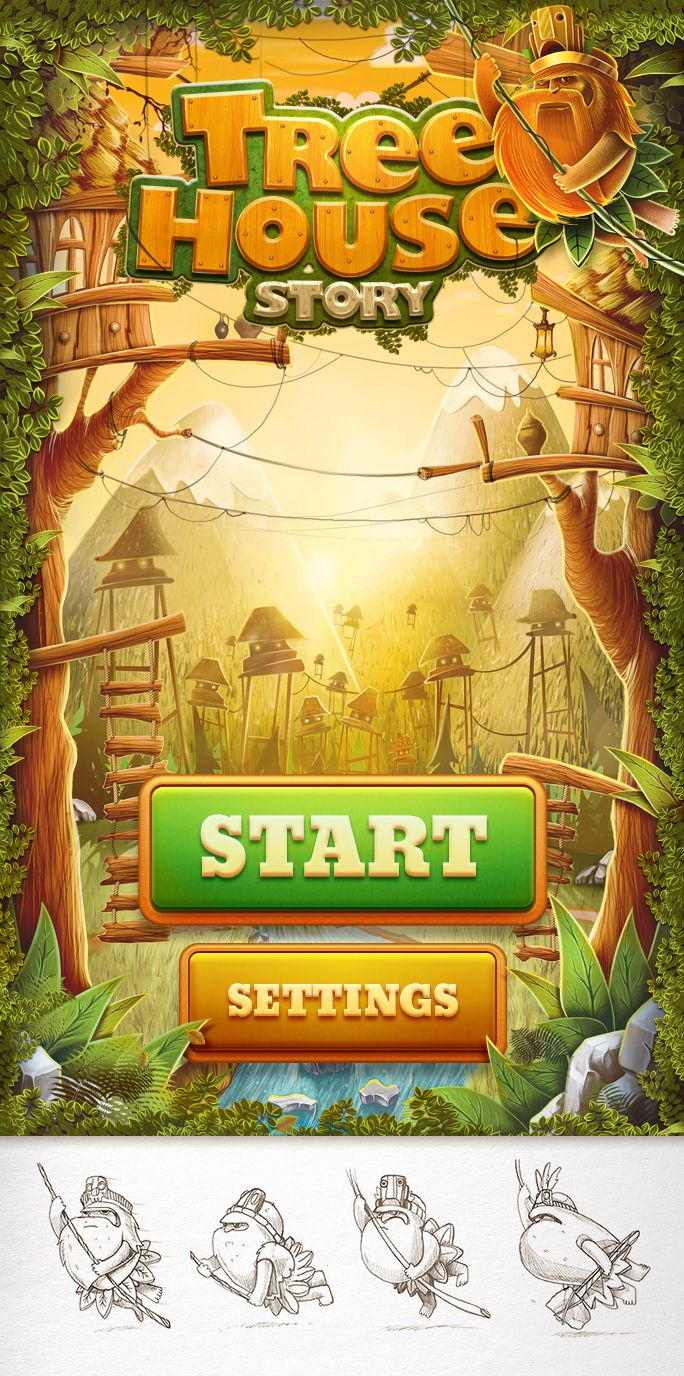 1108 best game ui images on pinterest game design game tree house story by ink ration