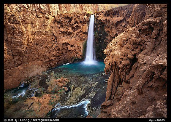 Mooney falls. Grand Canyon  National Park (color)