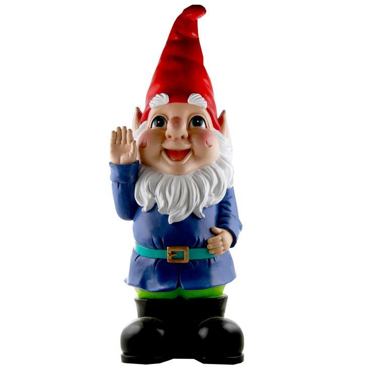 Giant Gnome | Gnomes, Gnome garden, Solar powered fairy lights