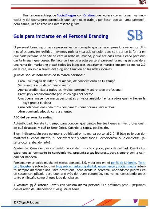Guía para iniciarse en el #PersonalBranding http://ecommerceymarketing.wordpress.com/2014/08/07/guia-para-iniciarse-en-el-personal-branding/#more-905