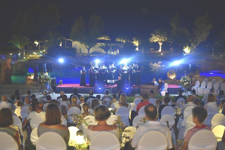 #Aboutlastnight at Meliton Hotel we enjoy a live concert from the Musica Sacra!   #PortoCarras #MelitonHotel #MusicaSacra