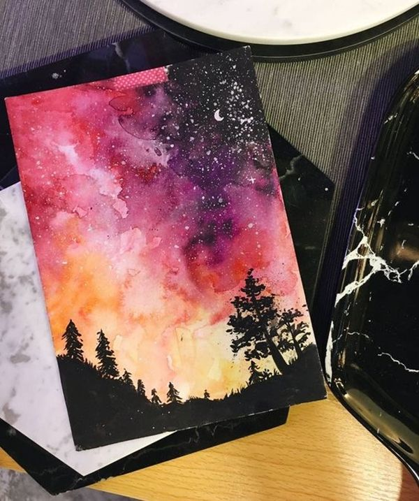 40 Super Cool Milky Way Paintings For Outerspace Lovers