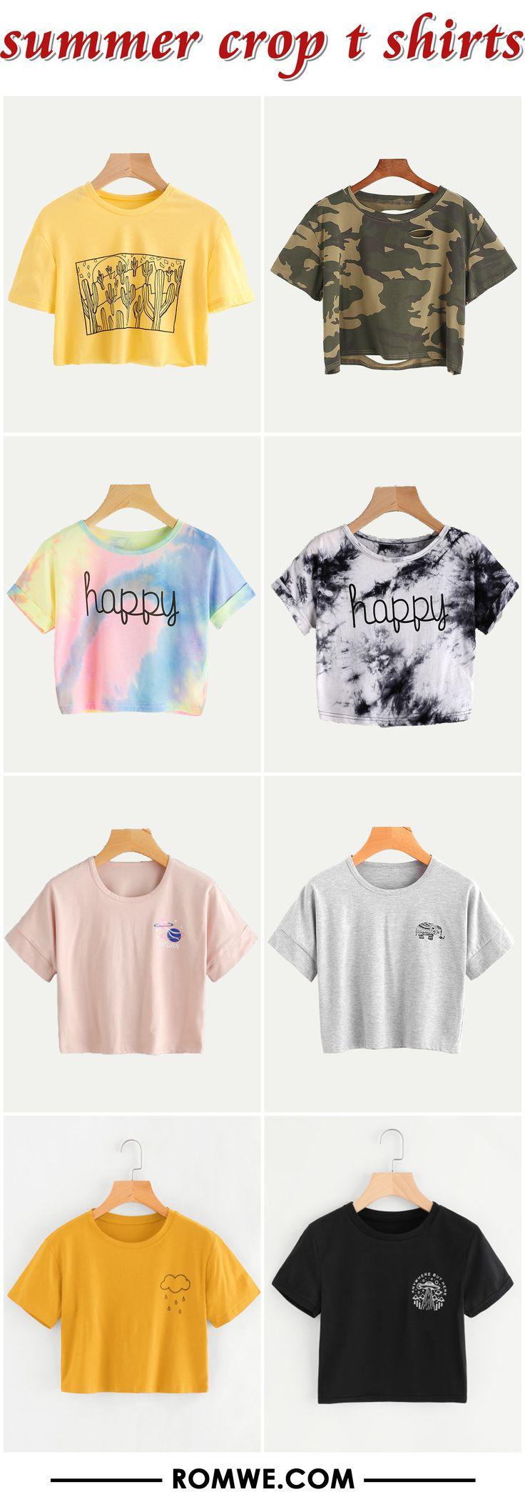 summer crop t shirts 2017 - romwe.com